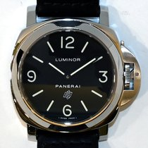 Panerai Luminor Base Logo Steel 44mm Black Arabic numerals