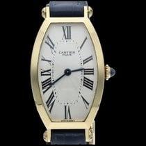 Cartier Tonneau Желтое золото 21mm Цвета шампань Римские