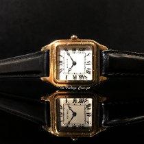 Cartier Santos Dumont Желтое золото Белый