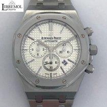 Audemars Piguet Royal Oak Chronograph Acier 41mm Blanc Sans chiffres