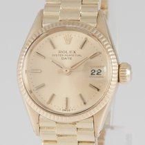 Rolex Oyster Perpetual Lady Date Желтое золото 24mm Золотой Без цифр