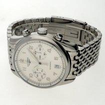 Longines Avigation gebraucht 40mm Weiß Chronograph Datum Stahl