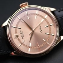 Rolex Cellini Time Rose gold 39mm Champagne No numerals