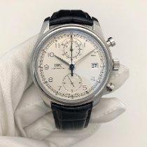 IWC Portuguese Chronograph Stål 42mm Silver Arabiska