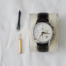 Longines Column-Wheel Chronograph pre-owned 40mm White Chronograph Date Crocodile skin