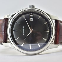 Eterna Vaughan Steel 41mm Black No numerals