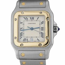 Cartier Santos Galbée Gold/Steel 29mm Champagne Roman numerals United States of America, New York, Massapequa Park