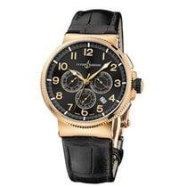 Ulysse Nardin Rose gold Automatic Black 43mm new Marine Chronograph