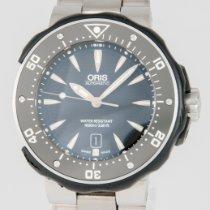 Oris ProDiver Date pre-owned 49mm Black Date Titanium