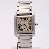 Cartier Tank Française 2465  JUST SERVICED 2005 pre-owned