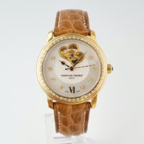 Frederique Constant Ladies Automatic Double Heart Beat pre-owned 34mm Mother of pearl Date Crocodile skin