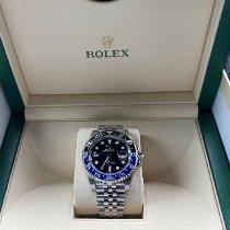 Rolex GMT-Master II Stahl 40mm Schwarz Keine Ziffern Schweiz, Zug
