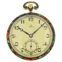Omega Uhr gebraucht Gelbgold 46mm Arabisch Handaufzug Nur Uhr