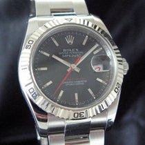 Rolex Datejust Turn-O-Graph Stål 36mm Grå Inga siffror