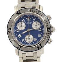 Hermès Clipper 33mm Blau