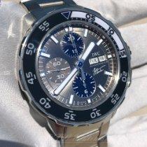 IWC Aquatimer Chronograph Aço 44mm Cinzento Sem números