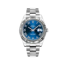 Rolex Datejust II Steel 41mm Blue No numerals