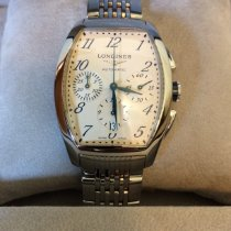 Longines Evidenza Steel 40mm Silver Arabic numerals United States of America, Massachusetts, Worcester