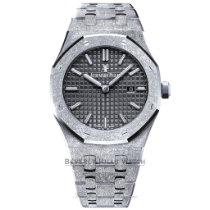 Audemars Piguet Royal Oak Lady Oro blanco 33mm Negro Sin cifras