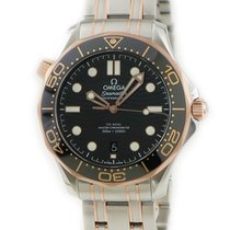 Omega Or rouge Remontage automatique Noir occasion Seamaster Diver 300 M