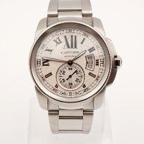 Cartier Calibre de Cartier Stahl 42mm Grau Römisch