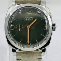Panerai Radiomir pre-owned 45mm Green Leather