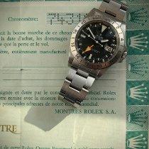 Rolex Explorer II Stål 40mm Svart Inga siffror