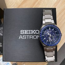 Seiko Astron GPS Solar pre-owned 46.1mm Blue Date Weekday GMT Titanium