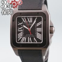 Cartier Automático Negro 38mm usados Santos 100