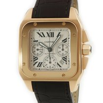Cartier Santos 100 Pозовое золото Cеребро