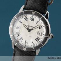 Cartier Ronde Croisière de Cartier occasion 42mm Argent Date Textile