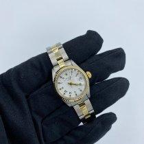 Rolex Lady-Datejust Or/Acier 26mm Blanc Sans chiffres