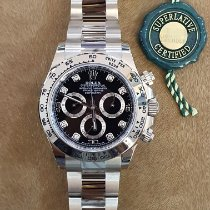Rolex Daytona Or blanc 40mm Noir Arabes