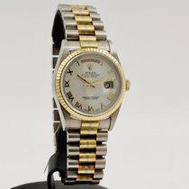 Rolex Day-Date 36 Oro blanco 36mm Blanco Romanos
