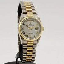Rolex Day-Date 36 Witgoud 36mm Wit Romeins