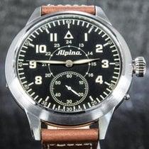 Alpina Startimer Pilot Heritage Acero 50mm Negro Arábigos