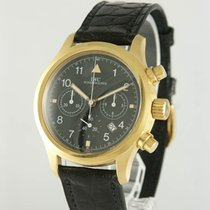 IWC Pilot Chronograph Sárgaarany 36mm Fekete