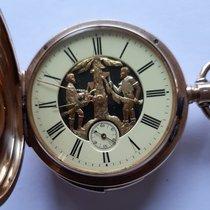Pocket watch case number 26490 Zeer goed Geelgoud 52mm Handopwind Nederland, Zutphen