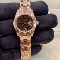 Rolex Lady-Datejust Pearlmaster Oro rosa 29mm Marrón Romanos