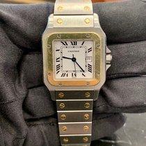 Cartier Santos Galbée Gold/Steel White Roman numerals