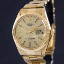 Rolex Oro amarillo Automático Oro Sin cifras 34mm usados Oyster Perpetual Date