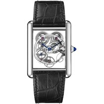Cartier White gold Manual winding Transparent No numerals 30mm new Tank Louis Cartier