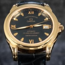 Omega De Ville Co-Axial Red gold 37.5mm Blue Roman numerals