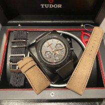 Tudor Fastrider Black Shield gebraucht 42mm Schwarz Datum Silikon
