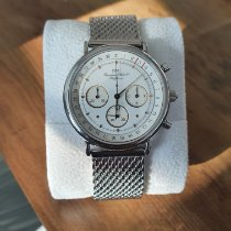 IWC Portofino Chronograph gebraucht Weiß Chronograph Leder