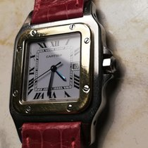 Cartier Santos (submodel) occasion Blanc Date Cuir