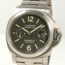 沛納海 Luminor Marina Automatic 鈦 44mm 棕色 阿拉伯數字