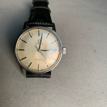 Omega Genève pre-owned Silver Leather