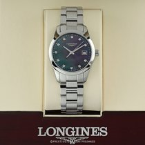 Longines Conquest Classic Steel 34mm Mother of pearl United States of America, New York, Airmont