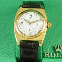 Rolex Bubble Back Yellow gold 29.5mm Champagne